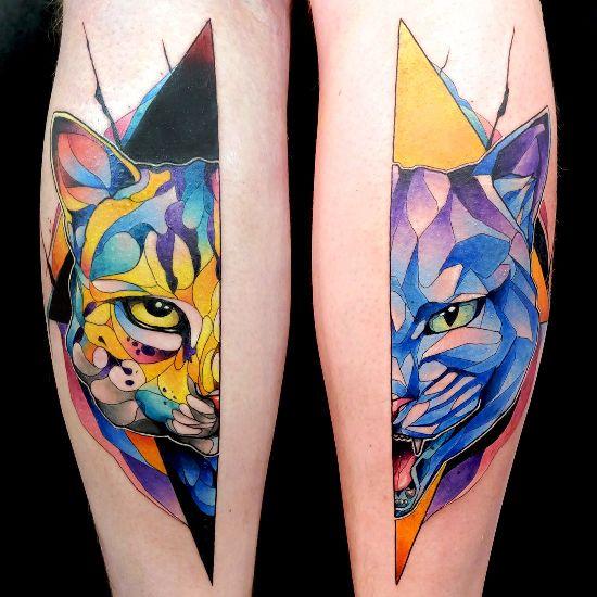 170 kreative Geschwister Tattoo Ideen und Inspirationen katze und panther süß und stark