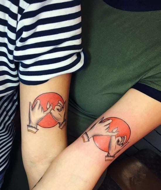 170 kreative Geschwister Tattoo Ideen und Inspirationen kleiner finger schwur schwester