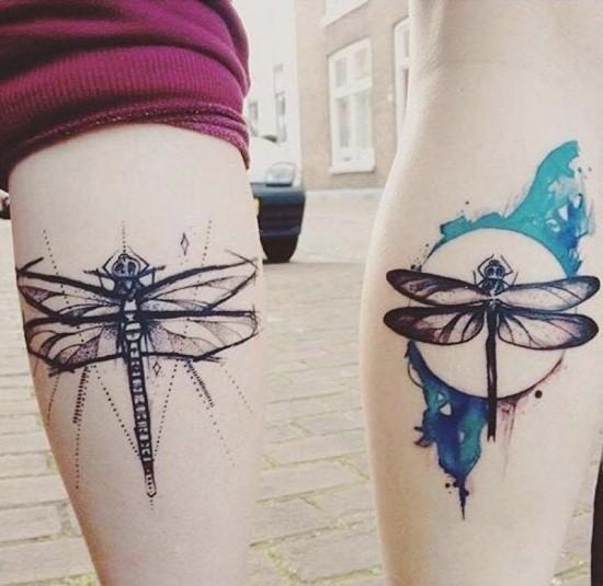 170 kreative Geschwister Tattoo Ideen und Inspirationen libelle bruder schwester sketch wasserfarbe