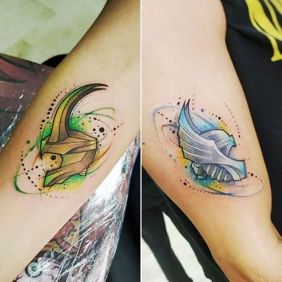 170 kreative Geschwister Tattoo Ideen und Inspirationen loki thor bruder tattoo