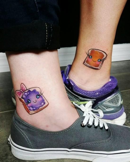170 kreative Geschwister Tattoo Ideen und Inspirationen pbj sandwich lustig