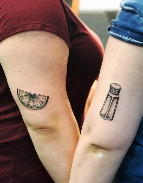 170 kreative Geschwister Tattoo Ideen und Inspirationen salz und zitrone kombi