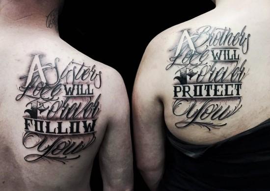 170 kreative Geschwister Tattoo Ideen und Inspirationen zitate für bruder und schwester