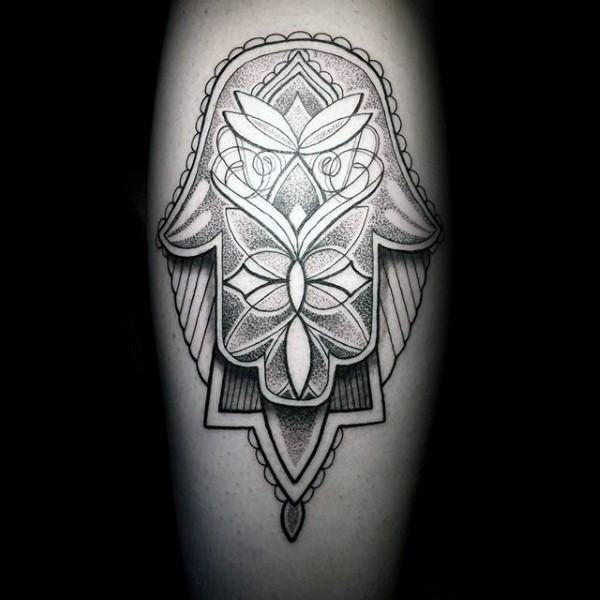 3d hamsa tattoo