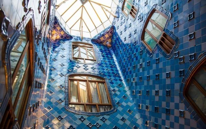 Antoni Gaudi Casa Batllo im Stil Katalanischen Modernismus gebaut
