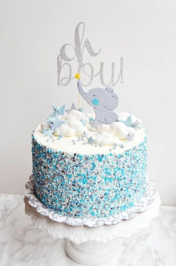 Babytorte Baby Shower Party Babyparty Torte Junge Elefant