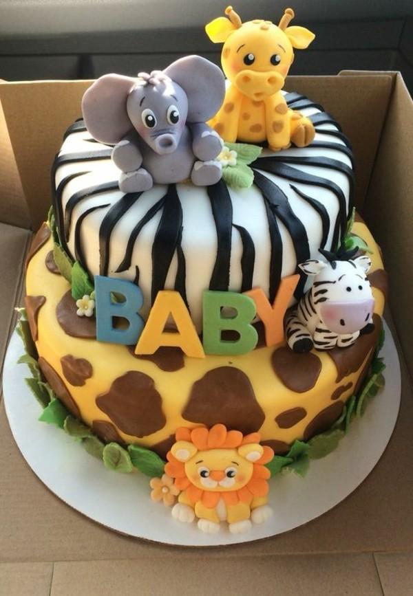 Babytorte Baby Shower Party Babyparty Torte Jungle Motivtorte