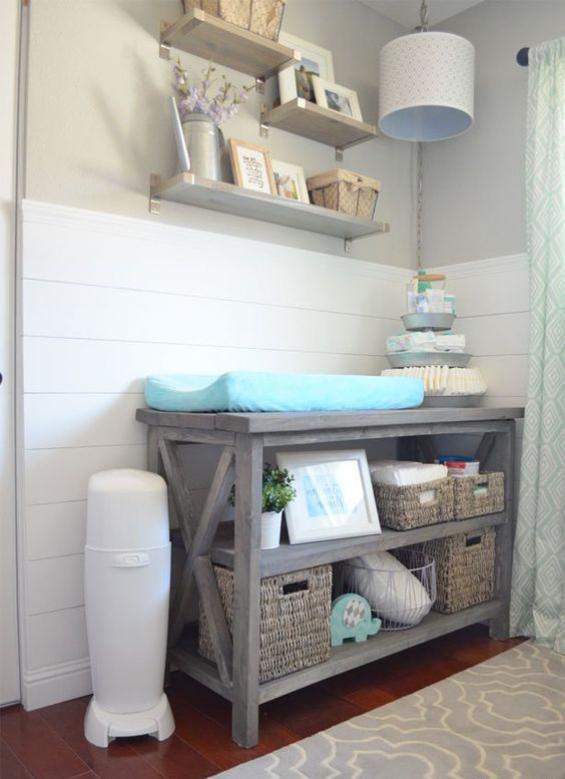 Babyzimmer einrichten gestalten Windeleimer ist ein Muss