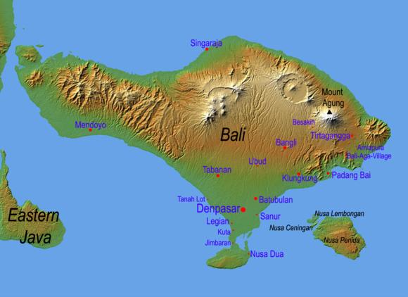 Bali Reisetipps Bali Packliste Landkarte Map