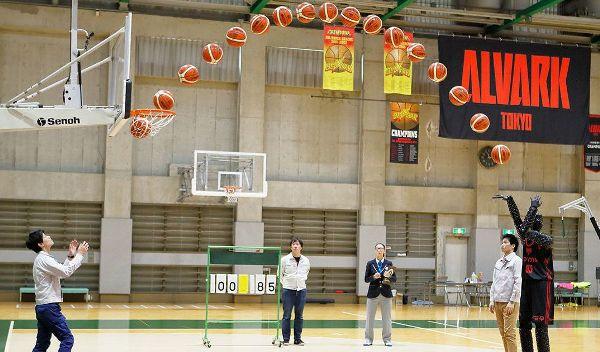 Basketball Roboter erzielt Guinness Rekord mit 2.020 perfekten Würfen der weltrekord versuch