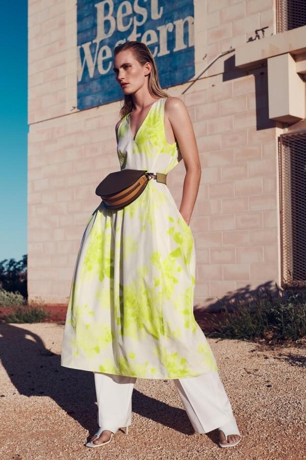 Damenkleider - tolle Gelbweiße Kombinaton