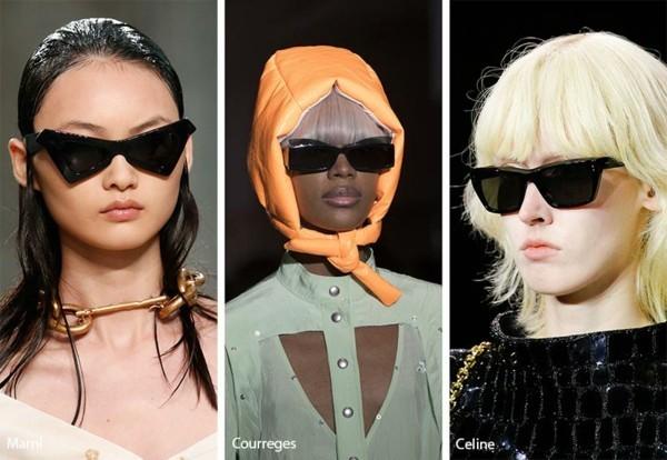 Designer Sonnenbrillen 2019 Trends Brillen schwarze Gläser