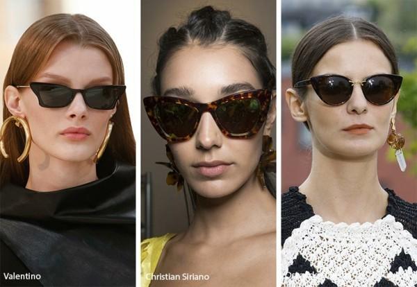 Designer Sonnenbrillen 2019 Trends Katzenaugen Brillen