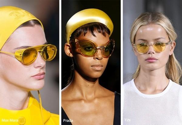 Designer Sonnenbrillen 2019 Trends Sonnenbrillen gelbe Gläser