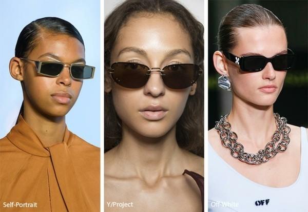 Designer Sonnenbrillen 2019 Trends Sonnenbrillen rechteckige Gläser