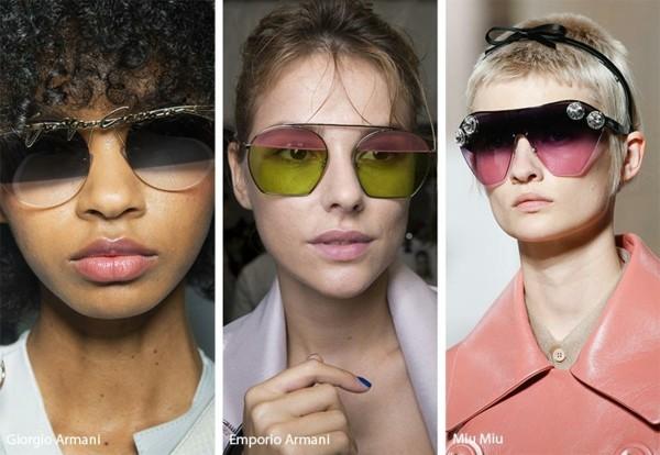Designer Sonnenbrillen 2019 Trends Sonnenbrillen zweifarbige Gläser