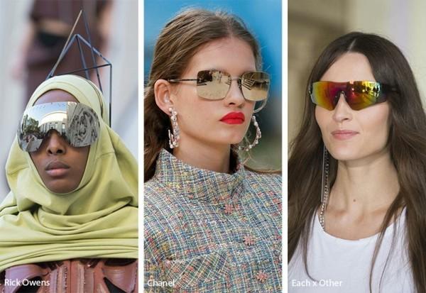 Designer Sonnenbrillen 2019 Trends Spiegelbrillen Brillen Spiegelgläser