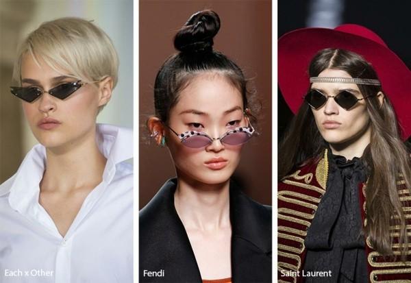 Designer Sonnenbrillen Trends Frühling Sommer 2019 Micro Sonnenbrillen schmale Modelle