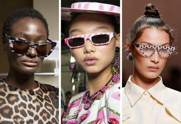 Designer Sonnenbrillen Trends Frühling Sommer 2019 Rahmen mit Muster