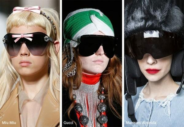 Designer Sonnenbrillen Trends Frühling Sommer 2019 Shield Sonnenbrillen Varianten