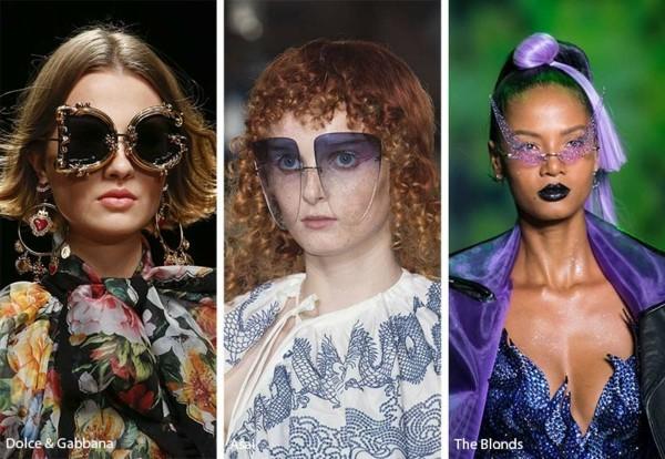 Designer Sonnenbrillen Trends Frühling Sommer 2019 auffällige Modelle