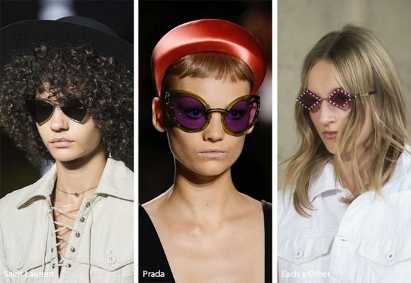 Designer Sonnenbrillen Trends Frühling Sommer 2019 auffällige Sonnenbrillen