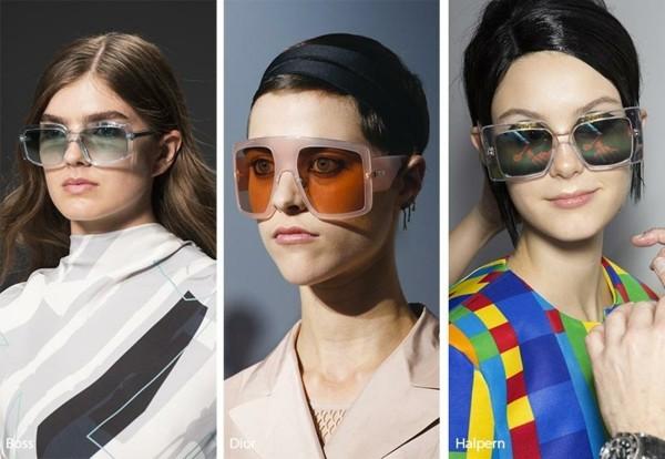 Designer Sonnenbrillen Trends Frühling Sommer 2019 große quadratische Rahmen