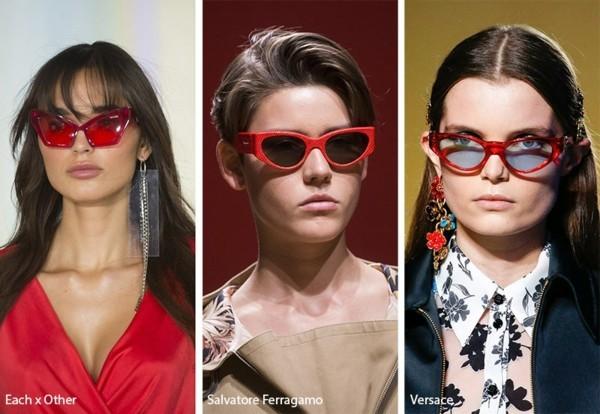 Designer Sonnenbrillen Trends Frühling Sommer 2019 rote Rahmen