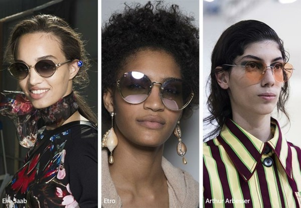 Designer Sonnenbrillen Trends Frühling Sommer 2019 runde Gläser