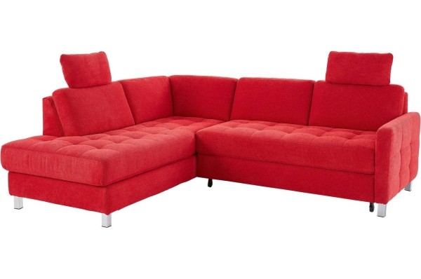 Eckcouch mit toller roter Farbe