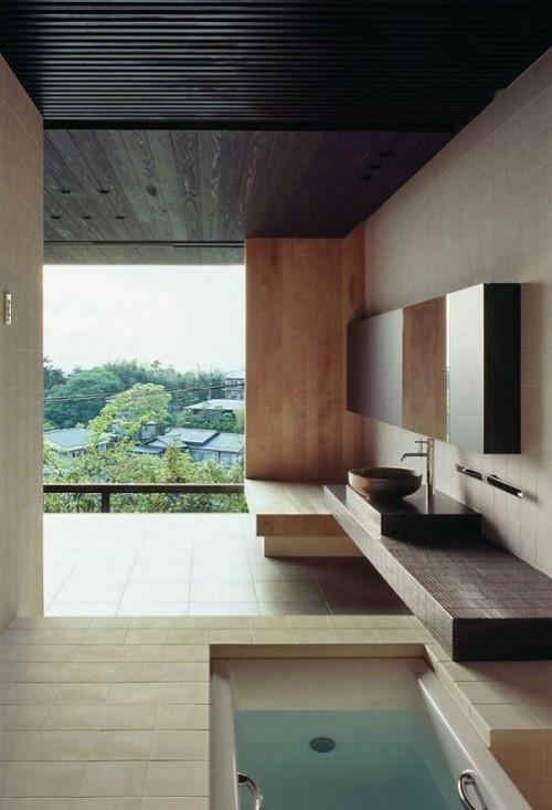 Eingelassene Badewanne Zen Feeling Ruhe und Gelassenheit im Bad
