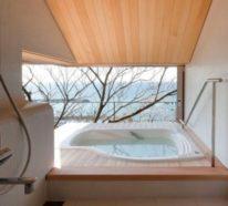 Eingelassene Badewanne lässt keine Wünsche offen