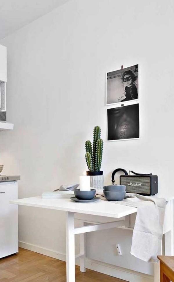 Elegante weiße Inspiration für Küchentische
