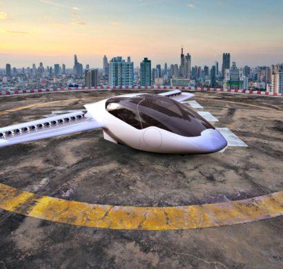 Erstes Flugtaxi vom deutschen Unternehmen Lilium im Test