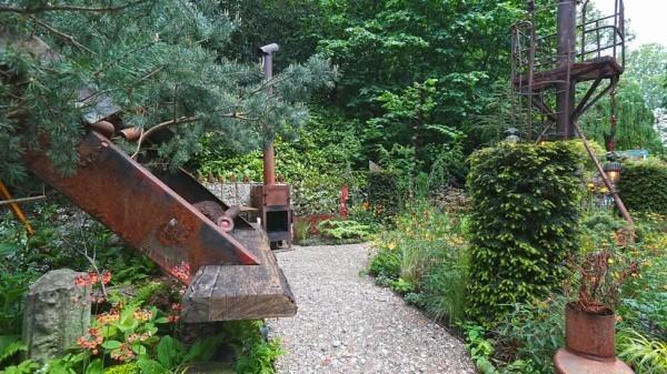 Gartengestaltung verschiedene Konstrutionen