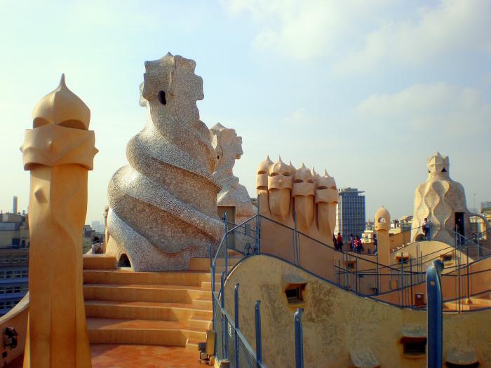 Gaudi Casa Mila erstes Gebäude des 20. Jahrhunderts in der UBESCO-Liste des Weltkulturerbes