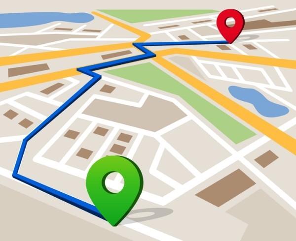 Google Maps warnt Sie, wenn Ihr Taxifahrer von der Route abweicht die route wählen und im taxi steigen