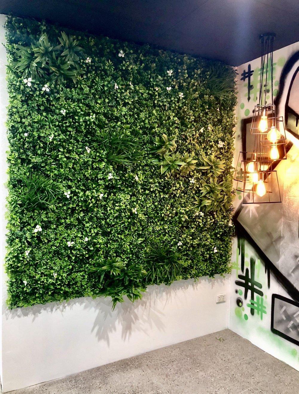 Grüne Wandgestaltung prachtvolle grüne Akzentwand
