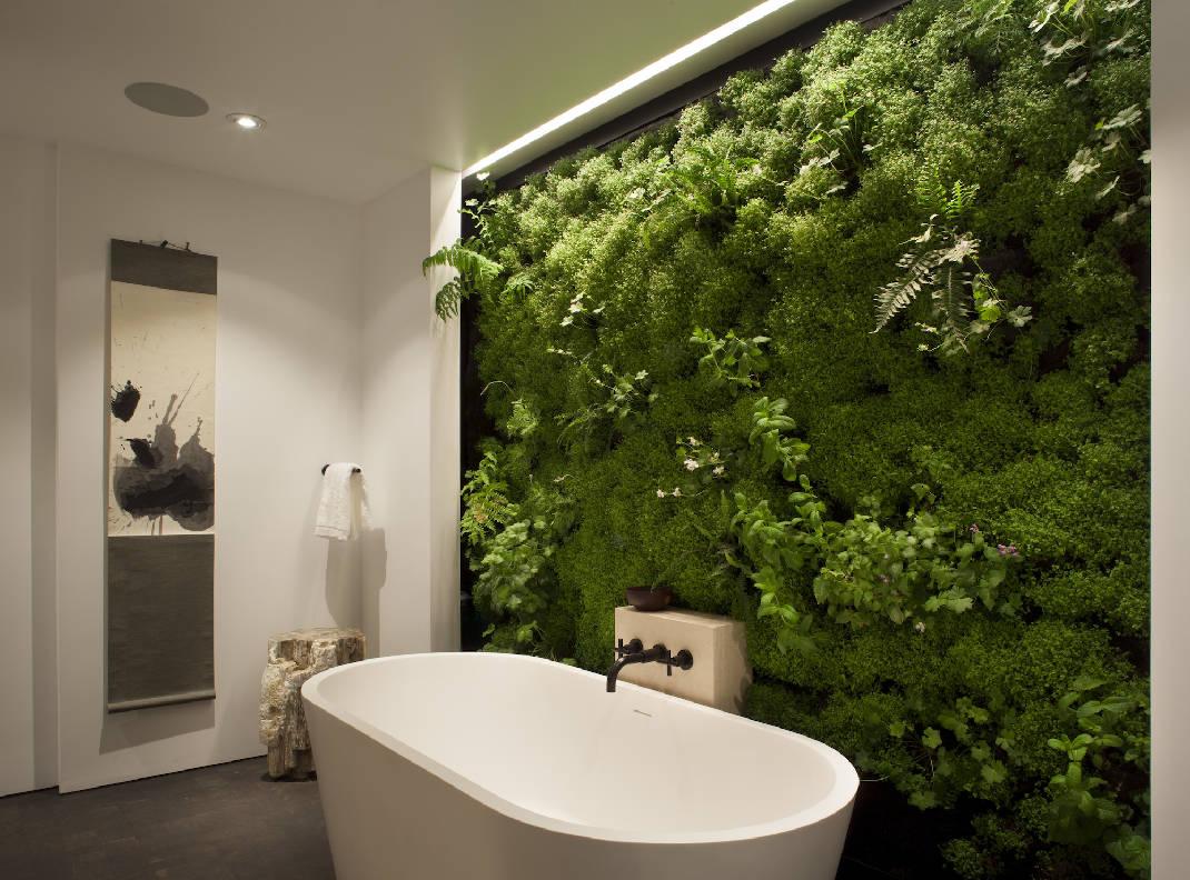 Grüne Wandgestaltung weiß grüner Kontrast
