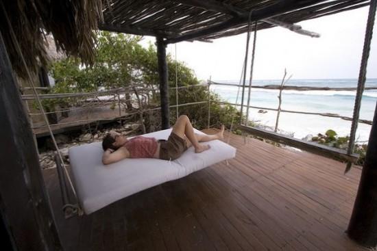 Hängebett draußen einfaches Modell exotische Umgebung