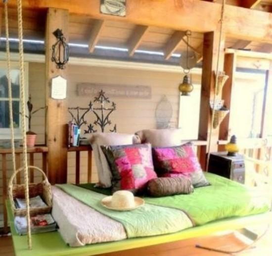Hängebett draußen viel Komfort Urlaubsfeeling zu Hause