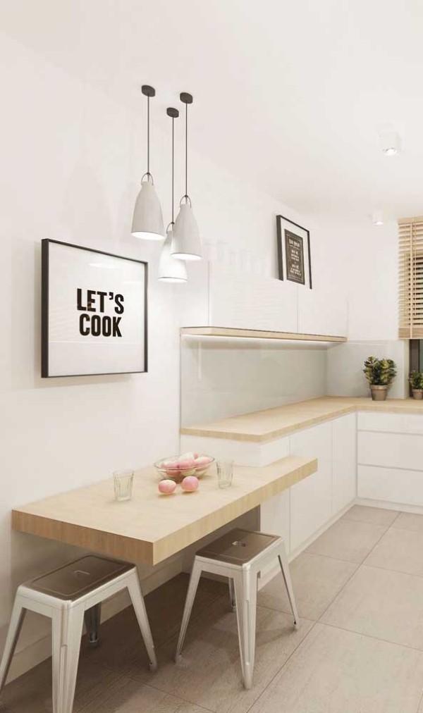 Idee an der Wand - Küchentische