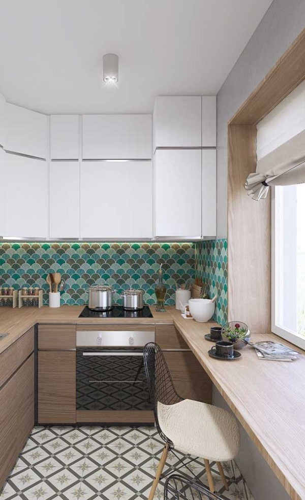 Küchentische - Design für ein Möbelstück an der Wand