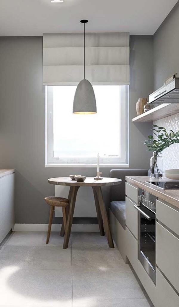 Küchentische - runde Idee neben dem Fenster