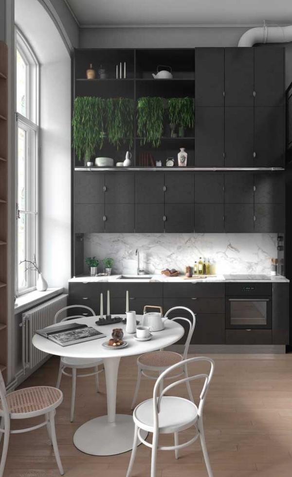 Küchentische - strahlendes Weiß