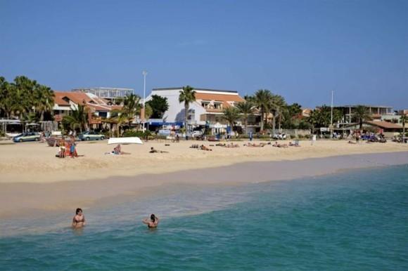 Kapverden Urlaub Kapverdische Inseln Santa Marina Insel Sal Strandleben
