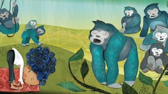 Kinderyoga Übungen gesundes Leben Yogaübungen für Kinder Gorillahaltung