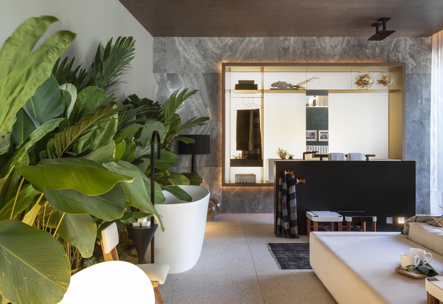 Kleine Palmen im Innenraum Traumhaus