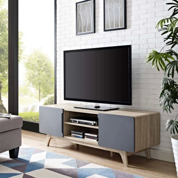 Möbel mit grauer Vorderseite platzsparend