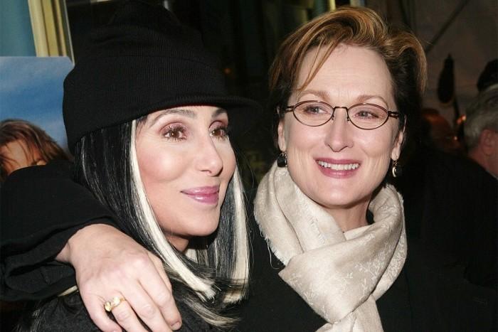 Meryl Streep 70 Jahre alt mit Cher gute Freundinnen